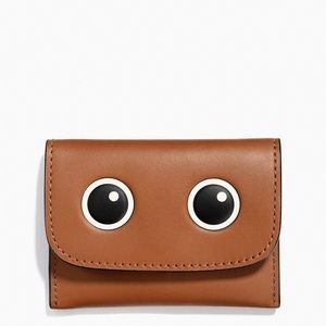 COACH 'Eyes' Leather Flap Card Pouch Mini Wallet
